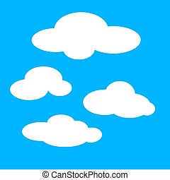 Clouds vector color illustration.