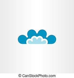 clouds vector icon symbol sign