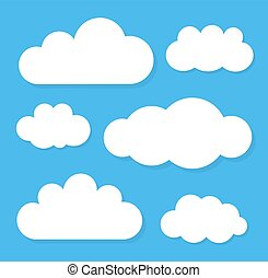Clouds. Vector illustration