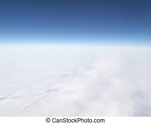 clouds. view from the airplane as background