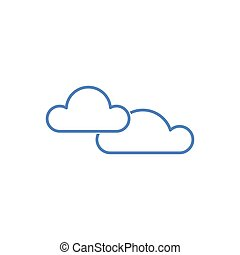 clouds weather icon isolated on white background. Vector Illustration