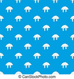 Clouds with arrows pattern seamless blue