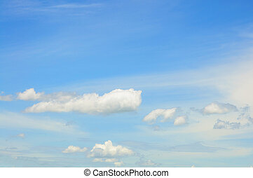 Clouds with blue sky.