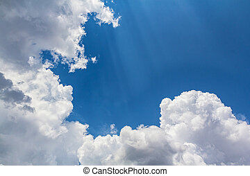 Clouds with blue sky