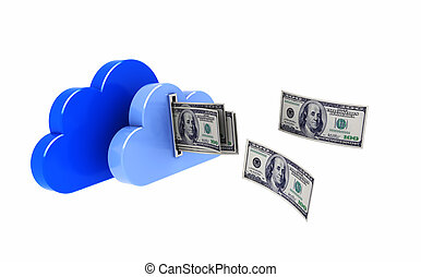 Clouds with dollars