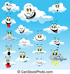 clouds with many expressions