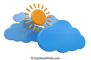 Clouds with sun
