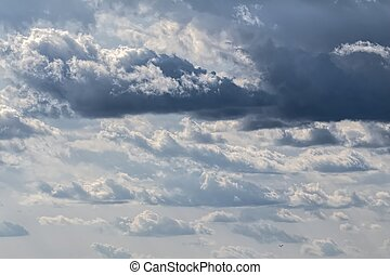 clouds with thunderstorm in the sky