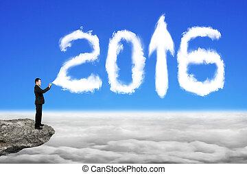 cloudsca, ciel, pulvérisation, forme, année, homme affaires, blanc, 2016, nuage