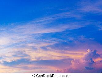cloudscape , ηλιοβασίλεμα