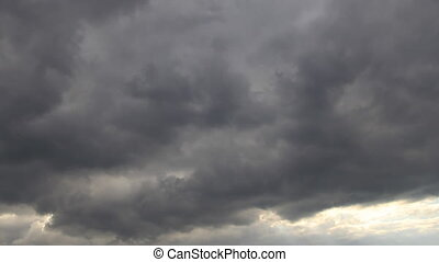 cloudscape, ливневый дождь