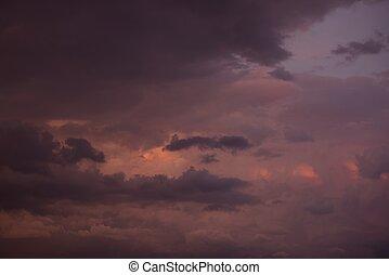 cloudscape, 日没