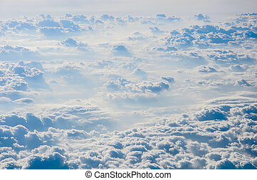 Cloudscape background . Blue sky and white cloud.