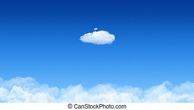 cloudscape, begrepp, moln, en