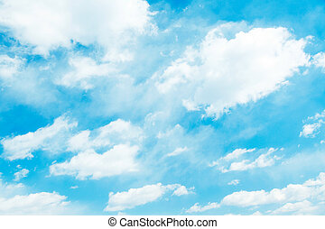 cloudscape - Blue sky background with white clouds