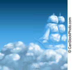 cloudscape, com, navio