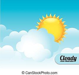 Cloudscape design, vector illustration.