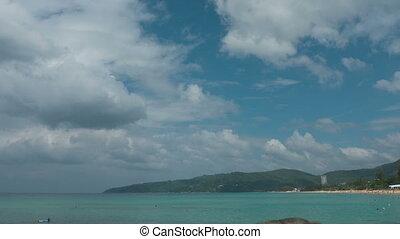 Cloudscape timelapse. Karon beach, Phuket, Thailand