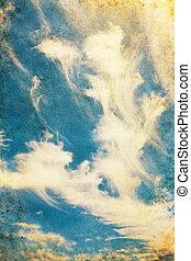 cloudscape, grunge