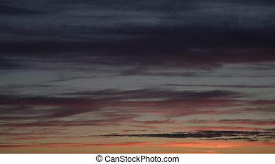cloudscape, idyllique, nuages, brûlé, arrière-plan., panorama, dramatique, timelapse, ciel, dawn., scenery., coucher soleil, toile de fond, majestueux, coloré, nuage