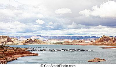 Cloudscape over Lake Powell Arizona and Utah USA