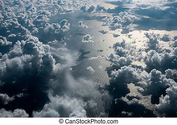 Cloudscape over the Atlantic Ocean