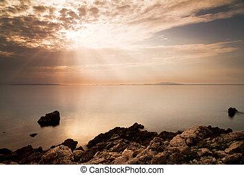 Cloudscape sea view