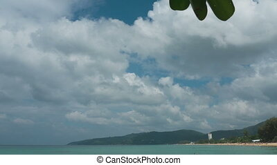 Cloudscape timelapse. Karon beach Phuket Thailand