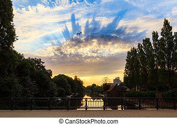 Cloudscape sunrise Amsterdam