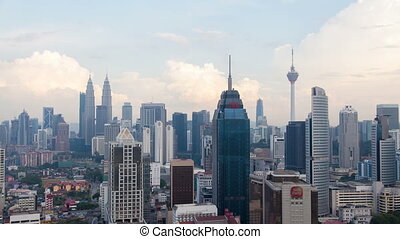 Cloudscape time lapse at Kuala Lumpur city skyline