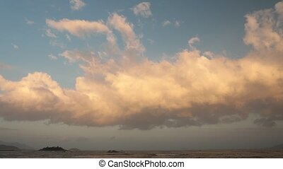 Cloudscape Time Lapse Evening Sky Vietnam