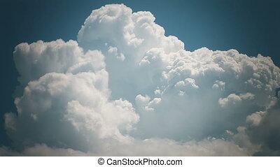 Cloudscape, time lapse.