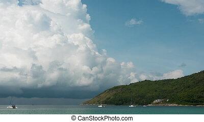 Cloudscape timelapse, Phuket - Thunderstorm clouds building...