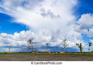 cloudscape, ville parc