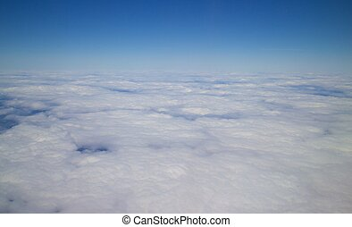 Cloudy Airplane View 002
