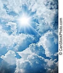 Cloudy and sun sky
