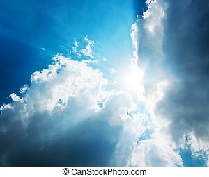 Cloudy and sun sky power of nature