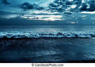 Cloudy beach background