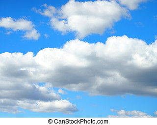 Cloudy blue sky background.
