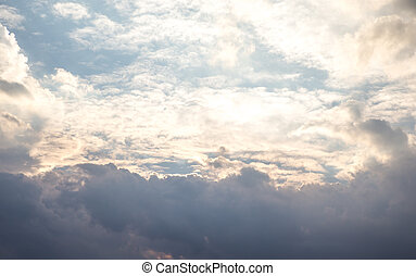 Cloudy blue sky background
