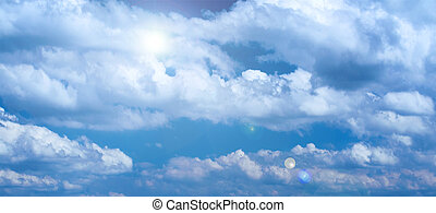 Cloudy blue sky light background, design element