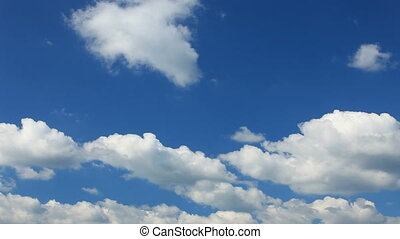 Cloudy blue sky - Blue sky on a cloudy day