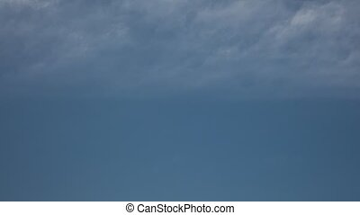 Cloudy Blue Sky Time Lapse High Definition - Cloudy blue...