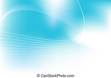 Cloudy blue wave background