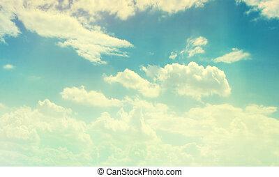 Cloudy color sky