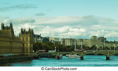 Cloudy day at Westminster, London