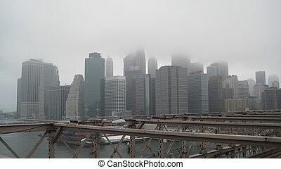Cloudy downton Manhattan
