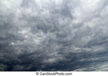 cloudy dramatic sky before tropical stom - cloudy dramatic...
