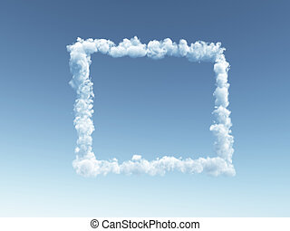 cloudy frameborder - clouds forms a frame border in the sky...
