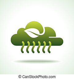 cloudy green energy icon